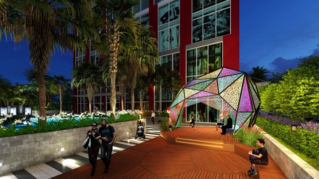 Dự án chung cư Hanoi Paragon chính thức cất nóc phía tây Hà Nội