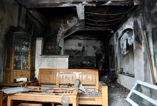 Nhiều tài sản trong nhà đã bị thiêu trụi