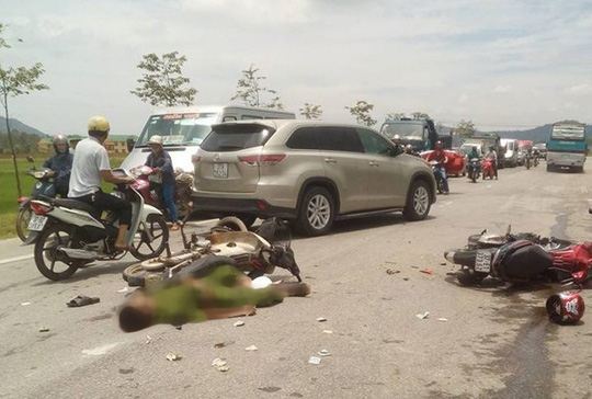 Hiện trường xảy ra vụ tai nạn ở Nghệ An