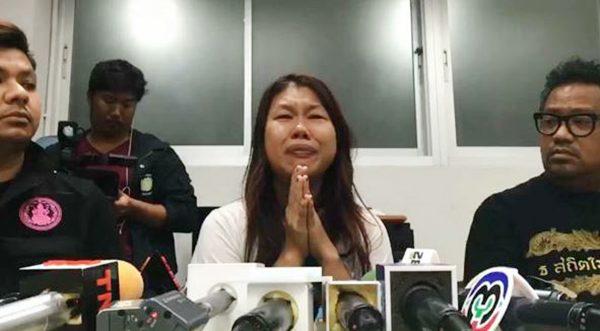 Trong buổi họp báo, người mẹ ấy liên tục gào khóc xin lỗi vì hành động mình đã gây ra