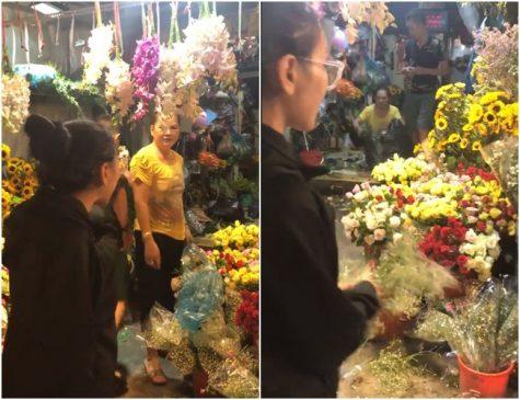 chủ cửa hàng hoa, cô gái quậy phá hàng hoa