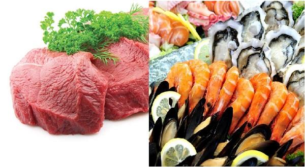 Nhóm thực phẩm kỵ nhau từ động vật