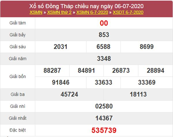 Thống kê XSDT 13/7/2020 - KQXS Đồng Tháp thứ 2