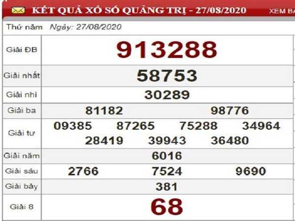 Tổng hợp phân tích KQXSQT- xổ số quảng trị ngày 03/09/2020