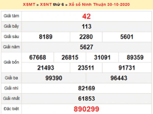 Soi cầu KQXSNT ngày 06/11/2020- xổ số ninh thuận chắc trúng