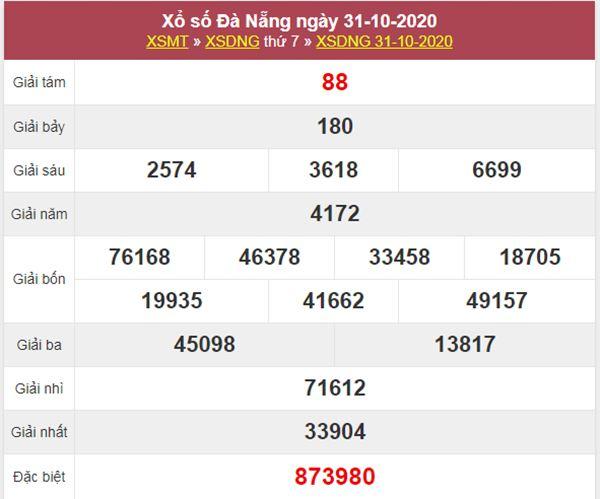 Thống kê XSDNG 4/11/2020 chốt lô bạch thủ Đà Nẵng thứ 4