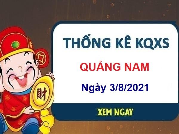Thống kê KQXSQNM ngày 3/8/2021
