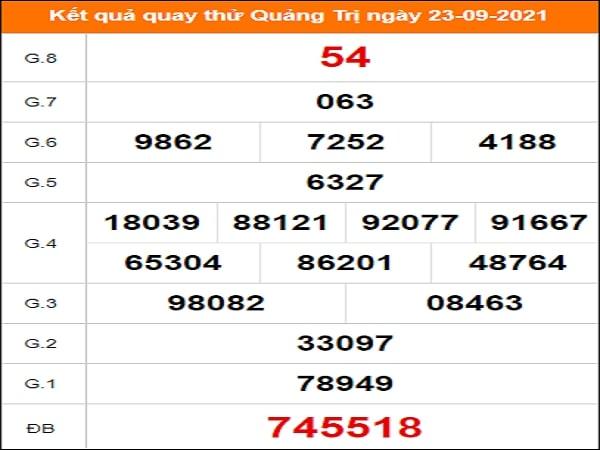 Quay thử xổ số Quảng Trị ngày 23/9/2021