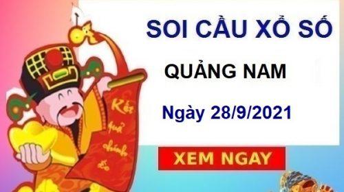 Soi cầu xổ số Quảng Nam ngày 28/9/2021